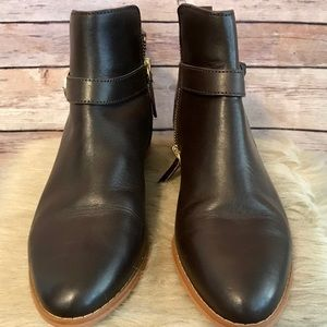 KATE SPADE Saturday Brown Leather Ankle Boots.Sz 7